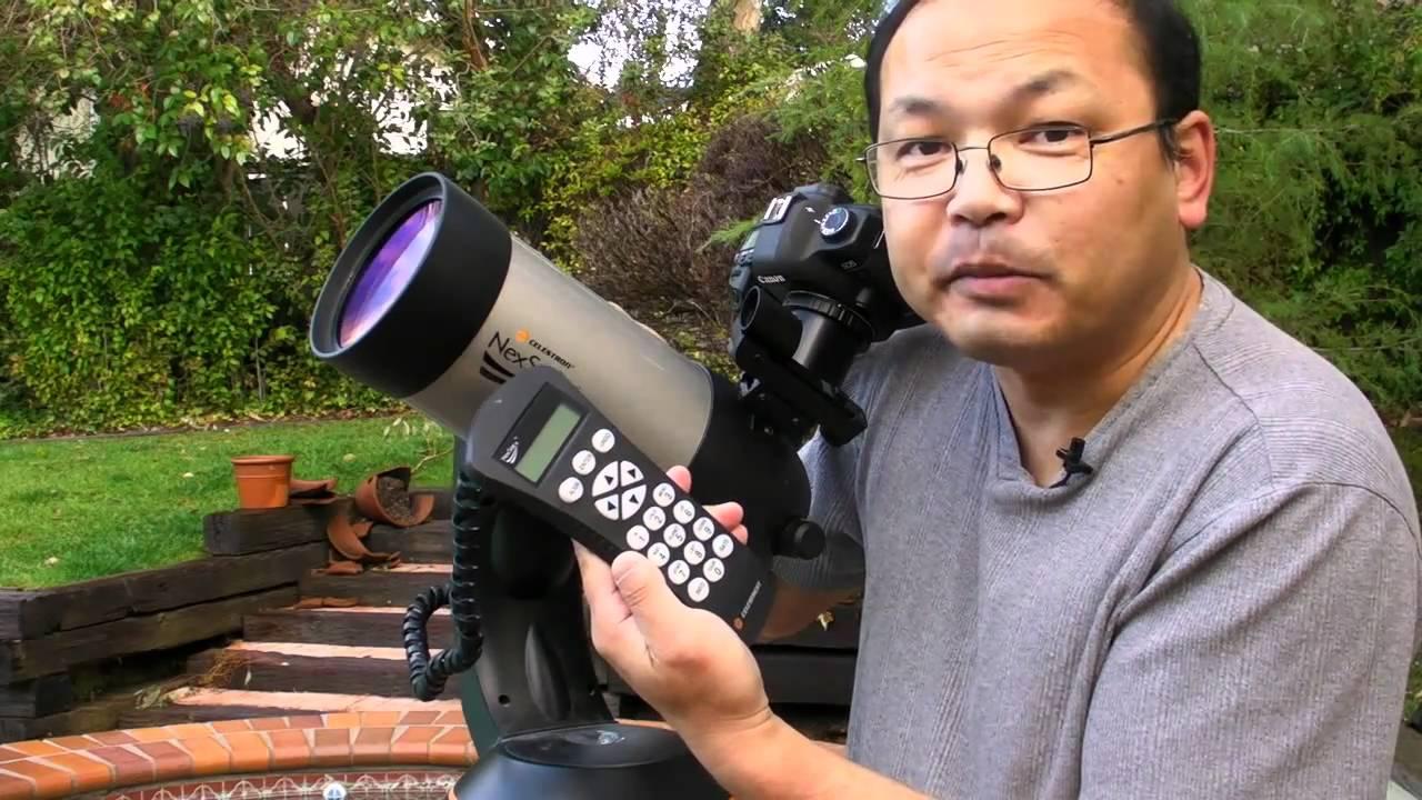 Turmfalke mit skywatcher skymax maksutov teleskop und dslr kamera