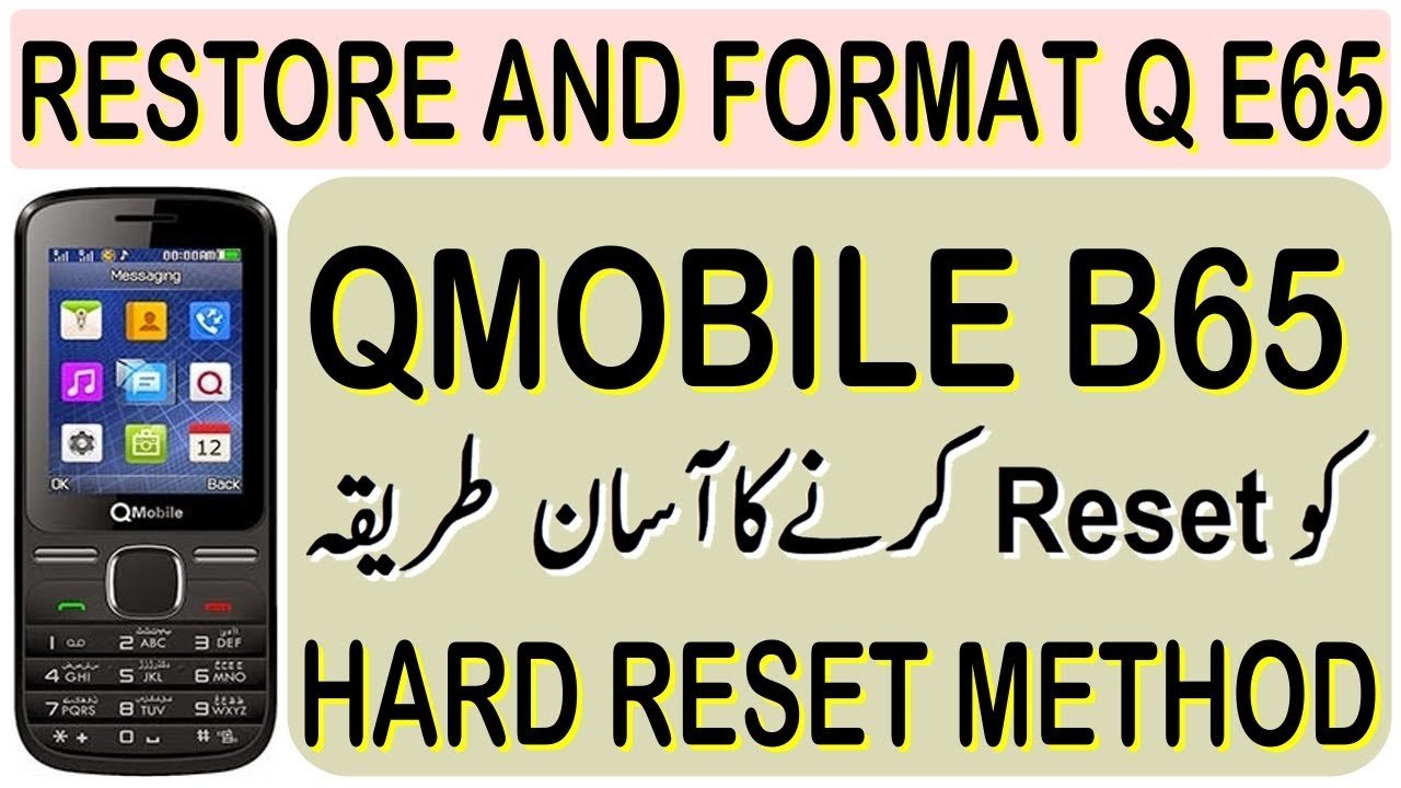 How to Factory Reset Qmobile B65 MT6261 by Gulzo