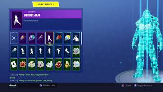 Dance emotes with fortnite roadtrip skin