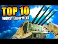 "Top 10 ""WORST EQUIPMENT"" in COD HISTORY (Top Ten) Call of Duty 