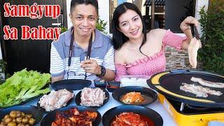 Samgyup Sa Bahay Mukbang! Samgyeopsal Delivery?!