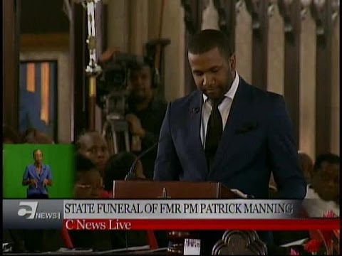 Minister Luke Quamina's tribute to former PM Manning at State Funeral