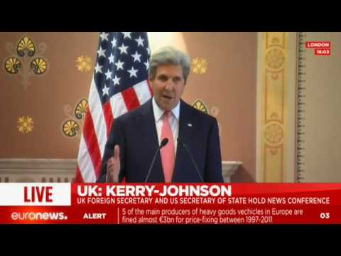 [Full speech] John Kerry comments after bilateral meetings with Boris Johnson