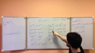 Производная сложной функции решение B14 ЕГЭ по математике 2013