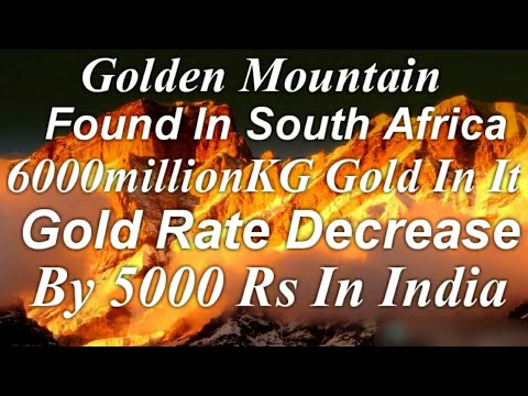 Good News Golden Mountain Found In South Africa Above 6000Millon$ Gold In Mountain Must Watch