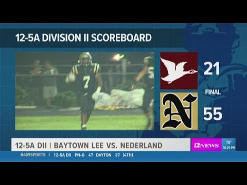 WEEK 8: Nederland High School takes it to Baytown Lee 55 - 21