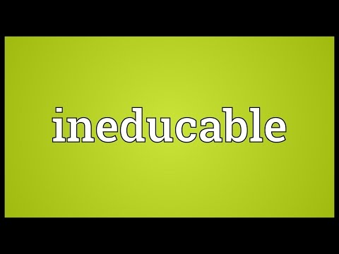 Header of ineducable