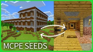 Minecraft PE Seeds - MINESHAFT under WOODLAND MANSION - Best MCPE Seeds 1.1 / 1.2