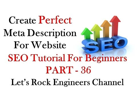 How to Create Meta Tags (Meta Description) For your Website for SEO - PART - 36 - 동영상