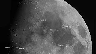 The Apollo Landing Sites through my Telescope ( and NO, you can