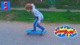 Скейтборд Penny! Первые уроки катания. Penny skateboard first lessons