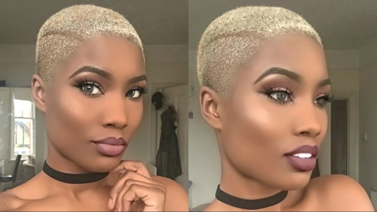Big Chop Story 2 I M Bald Again And Blonde Youtube