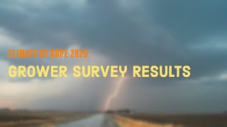 Climate of Hope 2020 - Grower Survey Results