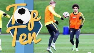 Amazing training goals   top 10 man city training ground goals 2016/17
