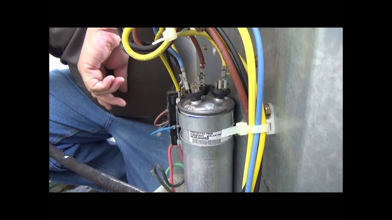 hight resolution of how do i change air conditioner capacitor