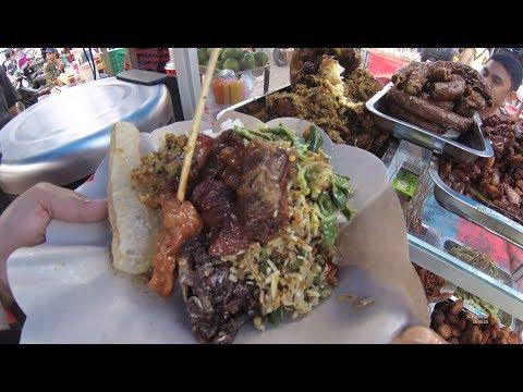 Indonesia Bali Street Food 1812 Part.1 Mix Rice Nasi Campur Ibuk Made Pasar Badung Penampungan