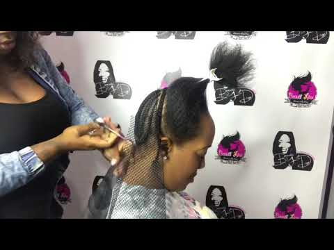 Half Up Half Down Top Knot with Bun with Bangs