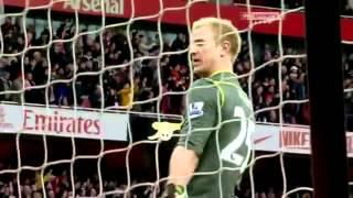 Joe Hart's reaction to Mario Balotelli's sending off at Arsenal