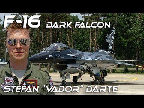 "4K UHD F-16  Stefan ""Vador"" Darte  Dark Falcon New F16  Belgian Air Force Solo  Display Pilot 2018"