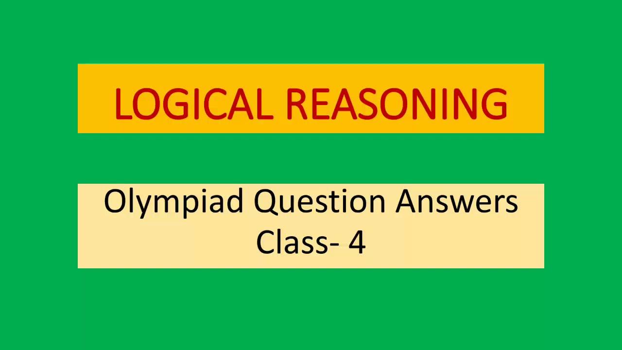 medium resolution of Logical Reasoning Class- 4 - YouTube