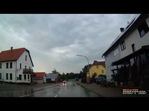 D: Netze. Stadt Waldeck. Landkreis Waldeck-Frankenberg. Ortsdurchfahrt. August 2016