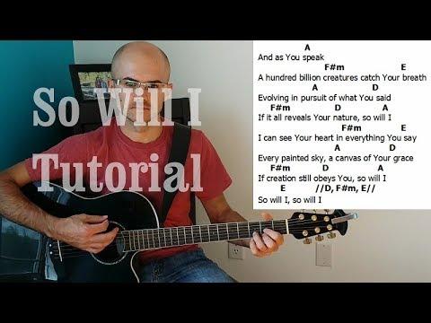 So Will I (100 Billion X) Acoustic Tutorial by Henry Braun (Hillsong United)