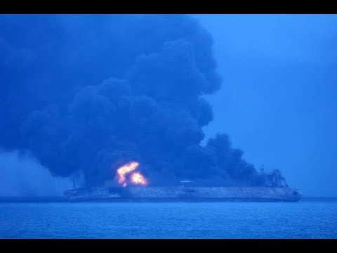 Iranian Tanker Burns in East China Sea After Collision