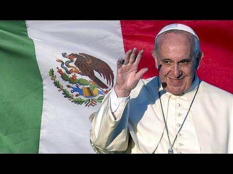 Pope Francis visits Morelia's San Salvador cathedral
