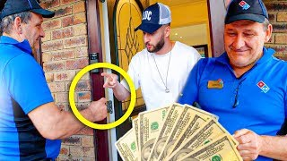 TIPPING PIZZA GUY $1000 IF WINS ROCK, PAPER, SCISSORS...