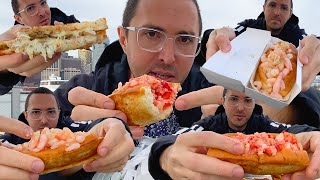 LOBSTER SHRIMP CRAB SEASIDE GRILLED CHEESE PARTY * BEFORE TIMES OUTDOOR MUKBANG* NOMNOMSAMMIEBOY