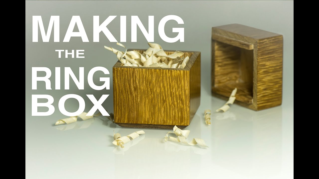How to make a Wood Ring Box - YouTube