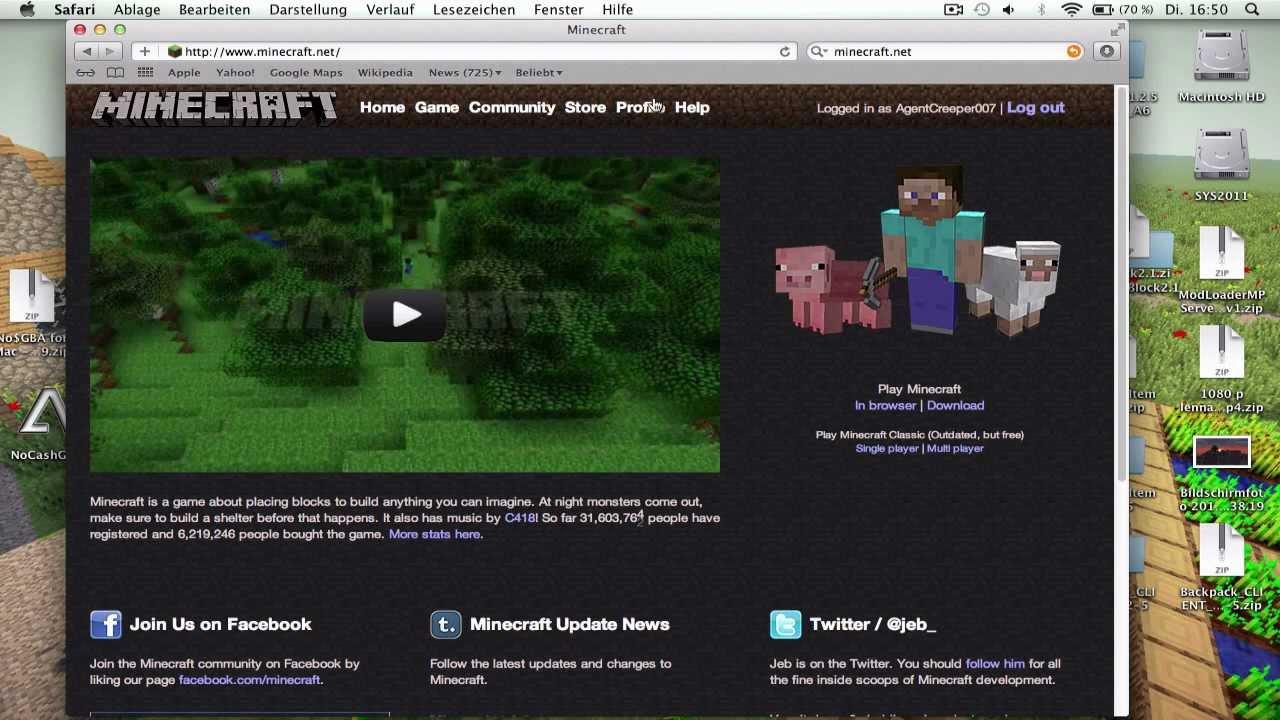Minecraft Skin Installieren German Mac YouTube - Wie installiert man skins fur minecraft