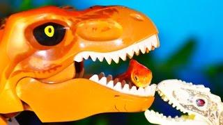 ЛЕГО ДИНОЗАВРЫ на РЕАЛЬНОЙ РЫБАЛКЕ! Новые серии про динозавров. Приз в каждом видео!