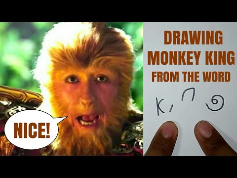 HOW TO DRAW MONKEY KING