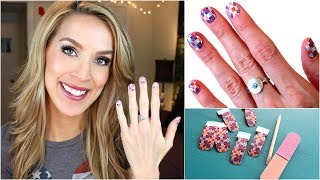 How To Apply Nail Wraps! Easy Nail Art!   Leighannsays