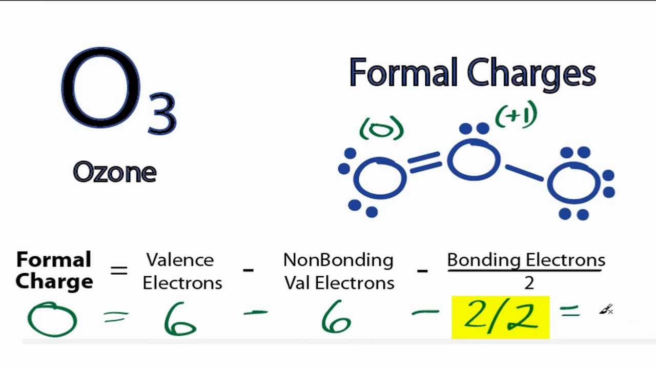 Calculating O3 Formal Charges: Calculating Formal Charges for O3 ...