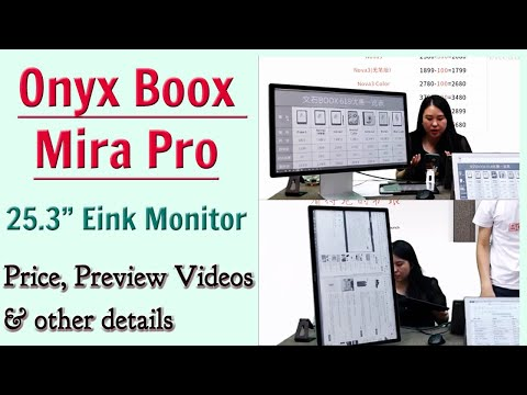 """Onyx Boox Mira Pro 25.3"""" Eink Monitor Preview - Video Play, Split View, Price, Glossy?, Vertical etc"""