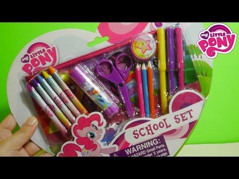 أغراض المدرسة ألعاب بنات ماي ليتل بوني My little Pony School Set
