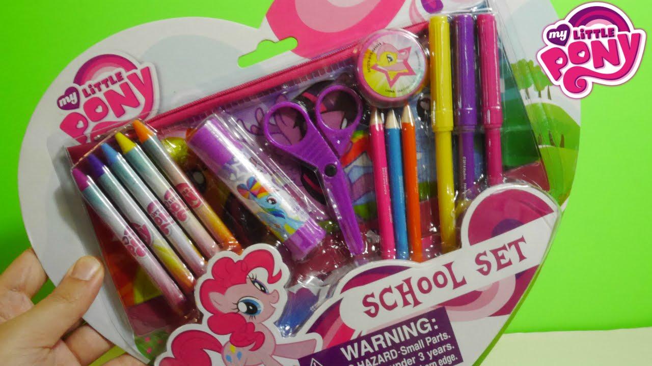 afe47301a6cd8  أغراض المدرسة ألعاب بنات ماي ليتل بوني My little Pony School Set - YouTube