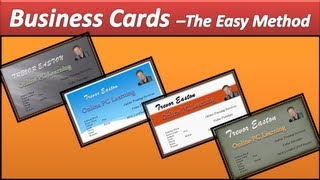 Business Card - Make Business Cards - PowerPoint 2010