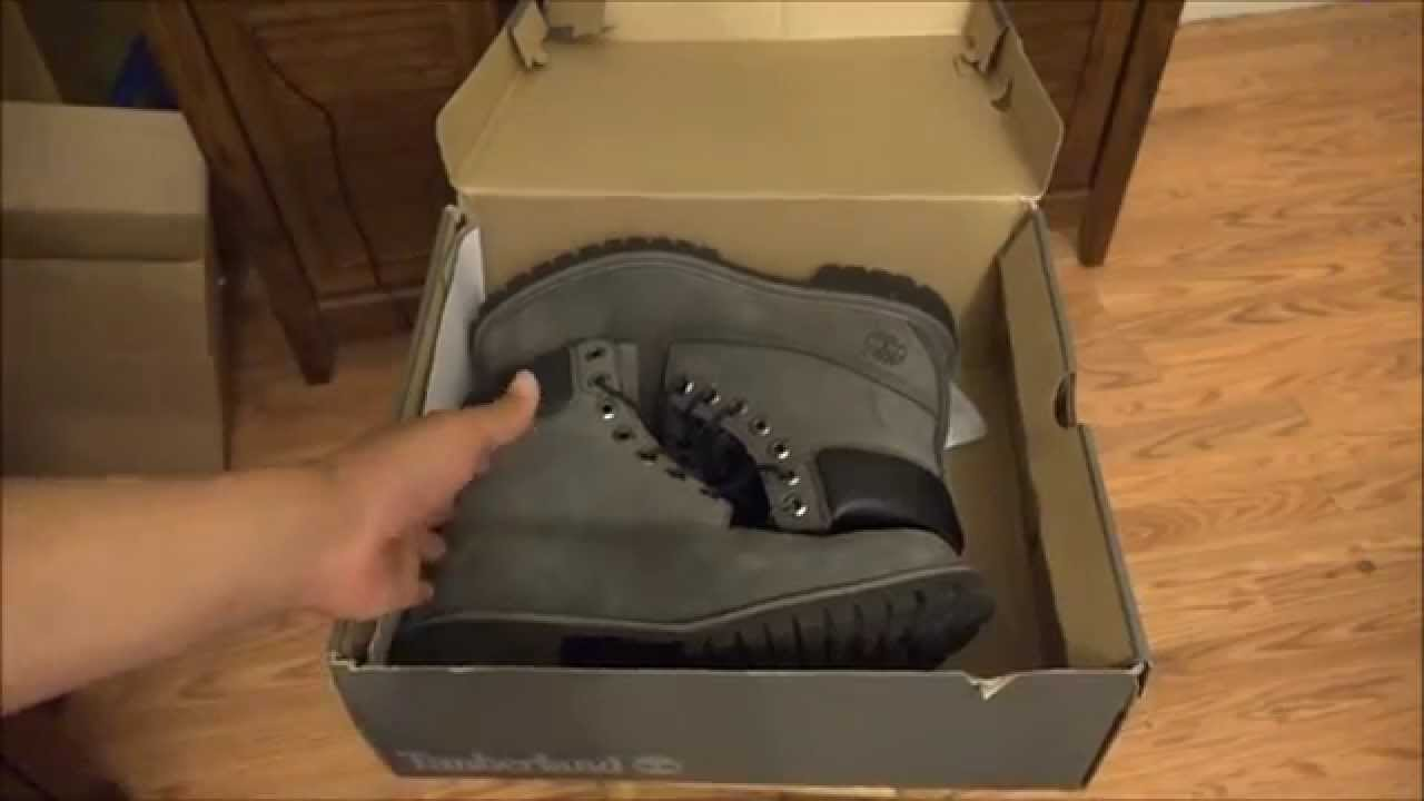 uk availability 504b2 720f4 Grey and Black Timberland 6   Premium Waterproof Boots - Men s Size 9 (HD)  - YouTube