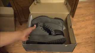 Grey and Black Timberland 6 Premium Waterproof Boots - Men s Size 9 (HD)