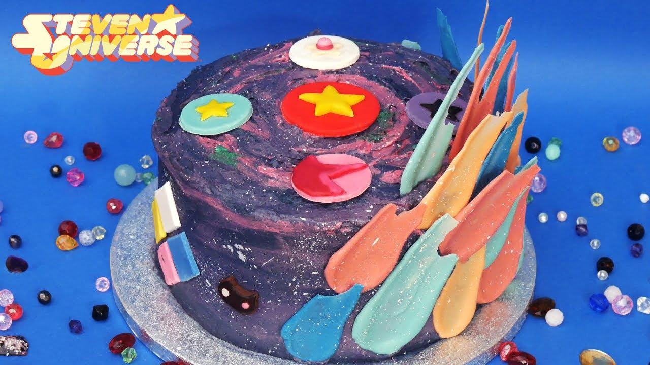 Steven Universe Brushstroke Feather Cake Garnet