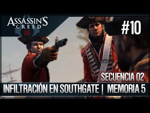 Assassin's Creed 3 - Walkthrough Español - Secuencia ADN 2 - Infiltración en Southgate [5] [100%]