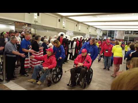 Grandpa John Honor Flight Airport Reception