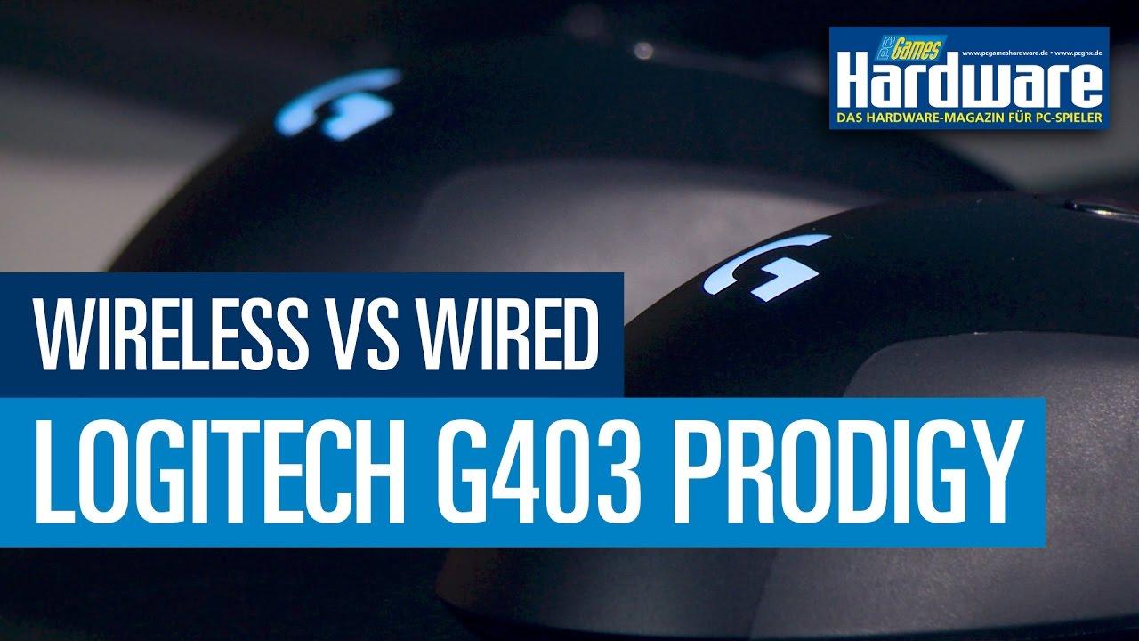 Logitech G403 Prodigy: Test / Review - Drahtlos gegen verdrahtet ...