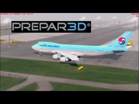 [P3D v4] Vienna [LOWW] - Oslo [ENGM] | Korean Air Cargo | PMDG 747-400F