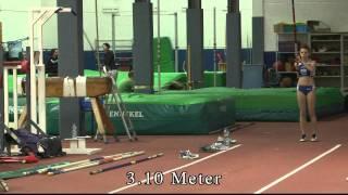 Stabhochsprung 13-jährige Schülerin von der WGL Schwäbisch Hall springt 3.10m in Zweibrücken