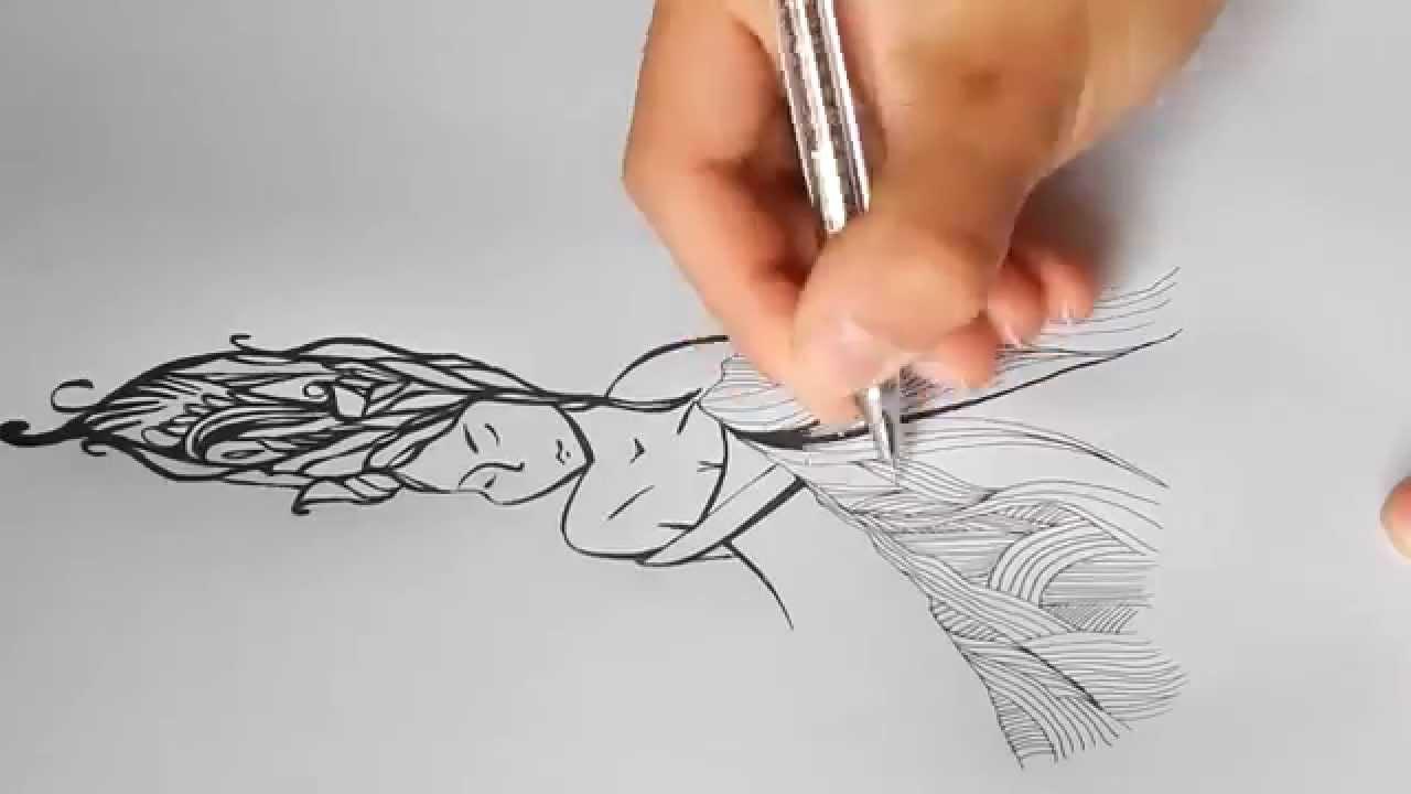 картинки черной ручкой для начинающих