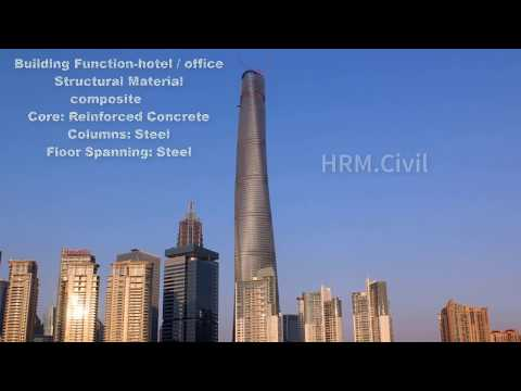 Shanghai Tower in china-  the second tallest building in the world